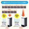 【10個セット】ブルーレイ収納ファイル(72枚収納・インデックス付・ブラック)
