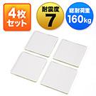 耐震ジェル(耐震マット・テレビ&パソコン対応・耐震度7・耐荷重40kg・クリア・透明・4枚セット)