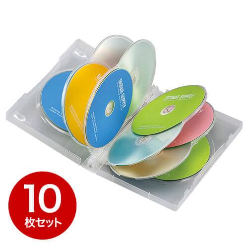 【10枚】DVDケース(10枚収納・トールケース・クリア)