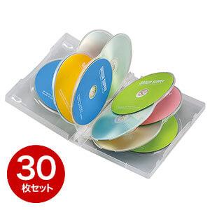 【30枚】DVDケース(10枚収納・トールケース・クリア)