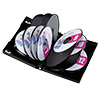【30枚】DVDケース(12枚収納・トールケース・ブラック)