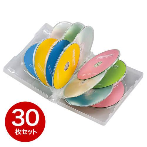【30枚】DVDケース(12枚収納・トールケース・クリア)