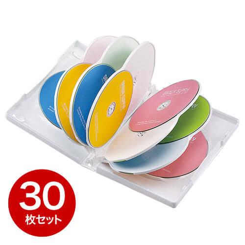 【30枚】DVDケース(12枚収納・トールケース・ホワイト)