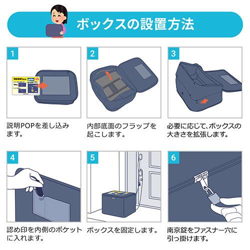 宅配ボックス(折りたたみ・大容量・75リットル・置き型・拡張可能)