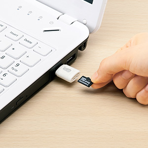 カードリーダー(microSD対応・ホワイト)