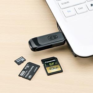 カードリーダー(microSD&SDHC&SDXC&メモリースティックPRO&PS3対応・ブラック)
