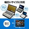 ノートパソコンクーラー(冷却台・静音・17インチ対応・5ファン・USB給電・無段階風量調節・3段階角度調節)
