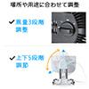 サーキュレーター(静音・小型・風量3段階調節・上下5段階調節・空気循環・ブラック)