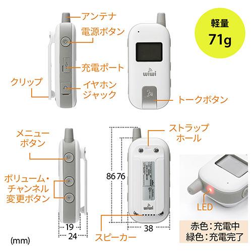 ワイヤレスガイド システム(ガイド用イヤホンマイク・最大255台接続・40チャンネル対応・防水/防塵・ディスプレイ搭載) 20台セット