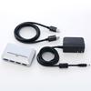 USB3.0ハブ(4ポート・セルフパワー&バスパワー・シルバー)