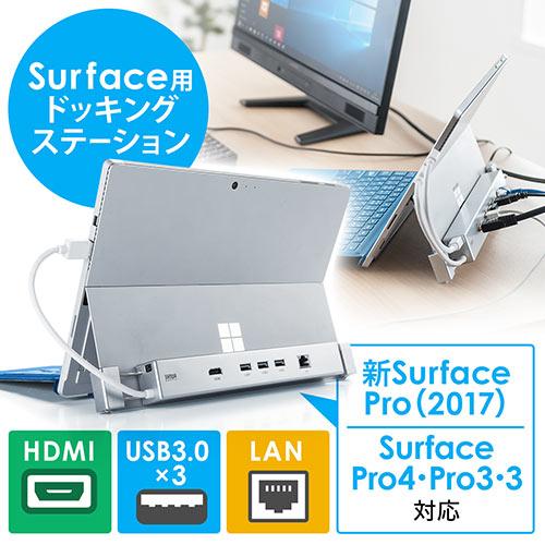 Surface用ドッキングステーション(映像出力・HDMI出力・USBハブ3ポート・有線LAN)