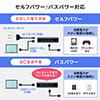 USB3.1/3.0ハブ(セルフパワー・バスパワー対応・ACアダプタ付き・7ポート・ブラック)