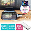 USB Type-C ハブ iPad Pro/iPad Air4 PD充電/60W対応 4in1 HDMI/4K対応 Type-C(USB3.0) 3.5mmイヤホンジャック ドッキングステーション