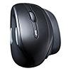 ワイヤレスエルゴノミクスマウス(IRセンサー・6ボタン・カウント切り替え・人間工学マウス)
