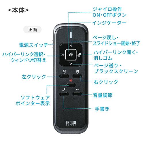 空中マウス(エアーマウス・ジャイロセンサー・プレゼンリモコン)