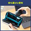 巻取り有線マウス(Type-C・ブルーLED光学センサー・コンパクト・3ボタン)