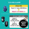 【38%OFFセール】ワイヤレスブルーLEDマウス(コンボマウス・Type-C/Type-A接続・切り替えマウス・ブルーLED・5ボタン)