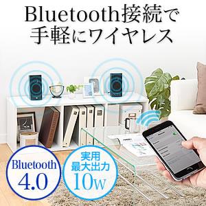 高音質PCスピーカー(無線・Bluetooth対応)