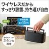 テレビスピーカー(ワイヤレス・手元スピーカー・電池/USB給電対応・ブラック)