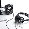 【テレワーク応援クーポン対象】PCスピーカー(USB電源・小型・3.5mm接続・高音質・4W)