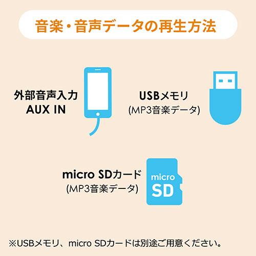 ポータブルワイヤレス拡声器(2人同時使用対応・音楽同時再生・マイク付・USB/microSD対応・ハンズフリー・ 最大10W・マイク・授業・飛散・飛沫)