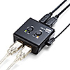 USB切替器(手動・PC2台用・USB機器2台・USB2.0・プリンタ・外付けHDD・キーボード/マウス対応)
