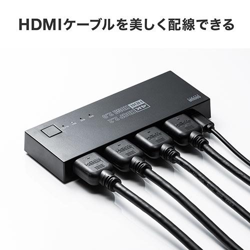 【テレワーク応援クーポン対象】HDMI切替器(4K・60Hz・HDR・HDCP2.2・自動/手動切り替え・3入力1出力・セレクター・マグネットシート付・PS5対応)