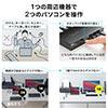 USB Type-C/HDMI パソコン切替器 2台切替 KVMスイッチ ドッキングステーション USB PD対応 USBキーボード USBマウス