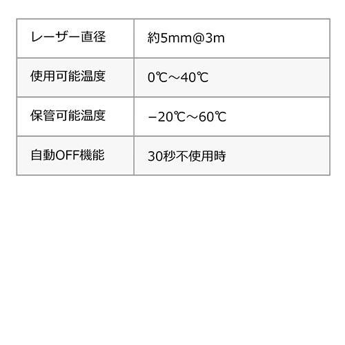 レーザー距離計(最大測定距離40m・尺単位対応・面積/体積/ピタゴラス計測対応)
