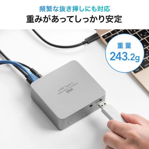 USB Type-C ドッキングステーション 据え置きタイプ PD/60W対応 4K対応 7in1 HDMI USB3.0×4 LAN 3.5mmイヤホンジャック テレワーク リモート 在宅勤務