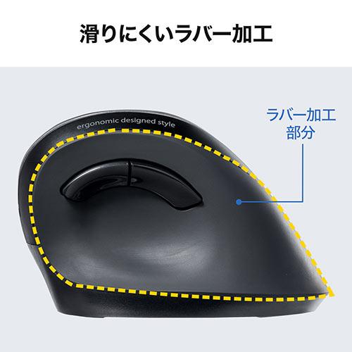 リストレスト/マウスパッド付きエルゴマウス(エルゴノミクスマウス・ワイヤレスマウス・人間工学マウス・ブルーLED・5ボタン・静音ボタン・レッド・マウスパッド/ブラック)