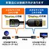 HDMIケーブル 10m(イコライザ内蔵・4K/60Hz・18Gbps伝送対応・HDMI2.0準拠品)