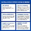 HDMIケーブル(8K対応・UltraHD 8K HDMI ケーブル・48Gbps対応・1m・4K/120Hz・PS5対応)