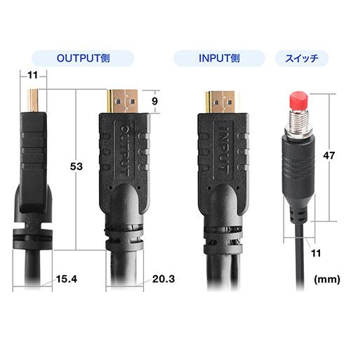 HDMIケーブル(出力切替手元スイッチ付・切替ケーブル・10m・4K対応)