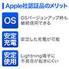 L字型 ライトニングケーブル(Apple MFi認証品・充電・同期・Lightning・1m・ホワイト)