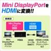 Mini DisplayPort HDMI変換アダプター(Thunderbolt・Mini DisplayPort・HDMI変換・4K出力可能・MacBook Pro・Surface Pro 4対応)