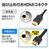 Mini DisplayPort-HDMI変換ケーブル(2m・4K/60Hz対応・アクティブタイプ・Thunderbolt変換・4K出力可能・Surface Pro 4対応・ラッチ内蔵)