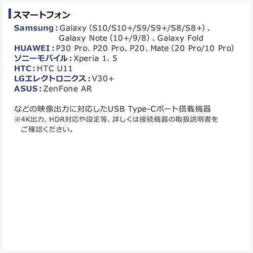 【トレジャーセール赤】USB Type-C HDMI変換ケーブル(2m・4K/60Hz・HDR・HDCP2.2・Thunderbolt 3対応・USB 3.1・ホワイト)
