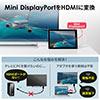 【ハロウィンセール】Mini DisplayPort-HDMI変換ケーブル(4K/60Hz対応・HDR対応・3m・ホワイト)