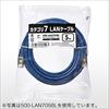 LANケーブル(カテゴリ7・0.5m・ネイビーブルー)