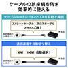 スイッチングハブ(LANハブ・ACアダプター・ファンレス仕様・AUTO-MDIX・AUTO-Negotiation・10/100Mbps対応・5ポート)