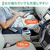 【2本セット】マグネット着脱式マイクロUSB/USB Type-C充電専用ケーブル(二股ケーブル・2台同時充電・スマートフォン・2A対応・ケーブル長1.5m・ブラック)