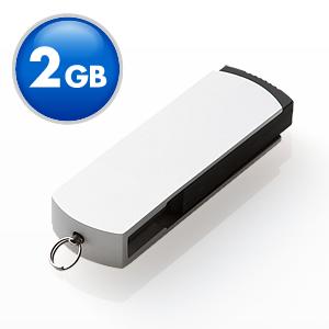 USBフラッシュメモリ(シルバースイングタイプ・2GB)