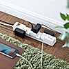 電源タップ(USB2ポート付・合計最大3.4A出力・6個口・回転式・iPhone/iPad/スマホ/タブレット充電・1.8m・コンセントタップ・ホワイト)