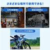 自転車ロック (ワイヤーロック・ダイヤルロック・軽量・シートポスト取付・盗難防止・防犯・4桁・ダイヤル式・鍵不要・LEDライト付き・ワイヤー長1m・ワイヤー径12mm・ブラック)