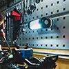 【サマークリアランスセール】LED作業灯(乾電池式・LED部360度回転・IPX4・防滴・屋外・アウトドア・最大350ルーメン・COBチップ・マグネット・フック内蔵)