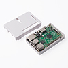 Raspberry Pi専用ケース(Pi 3 Model B/Pi 2 Model B/Pi Model B+対応・ネジ付・ゴム足付・ホワイト)