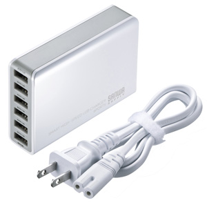 6ポートUSB充電器(最大2.4Aホワイト)