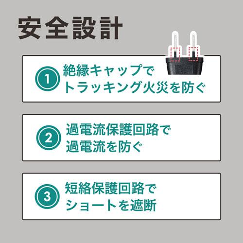 USB充電器(クランプ式・机固定・USB4ポート・ブラック)