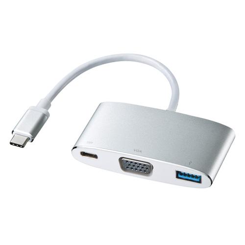 USB Type C-VGAマルチ変換アダプタ(Type-C・USB3.0ポート付き)